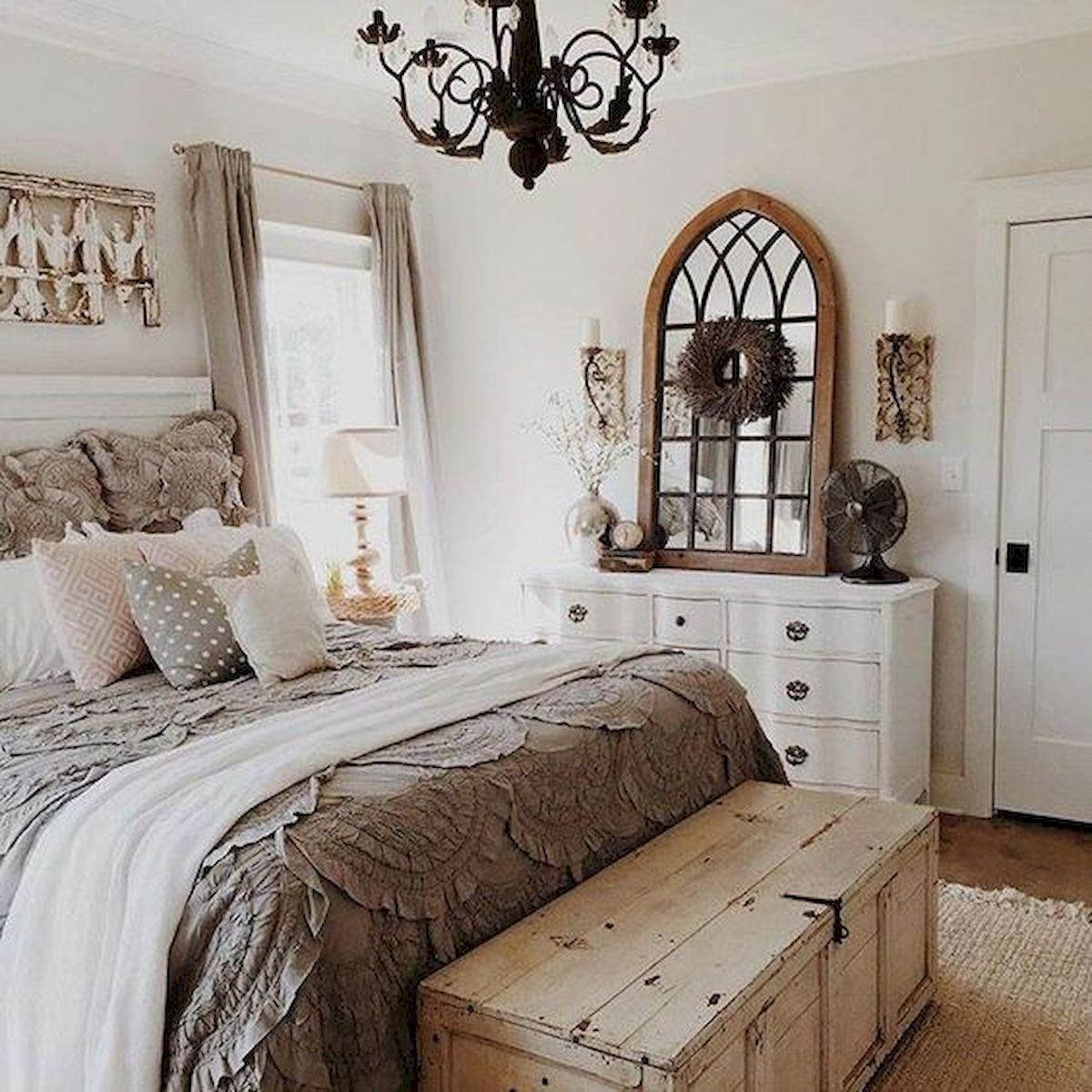 50 Awesome Farmhouse Bedroom Decor Ideas And Remodel ...