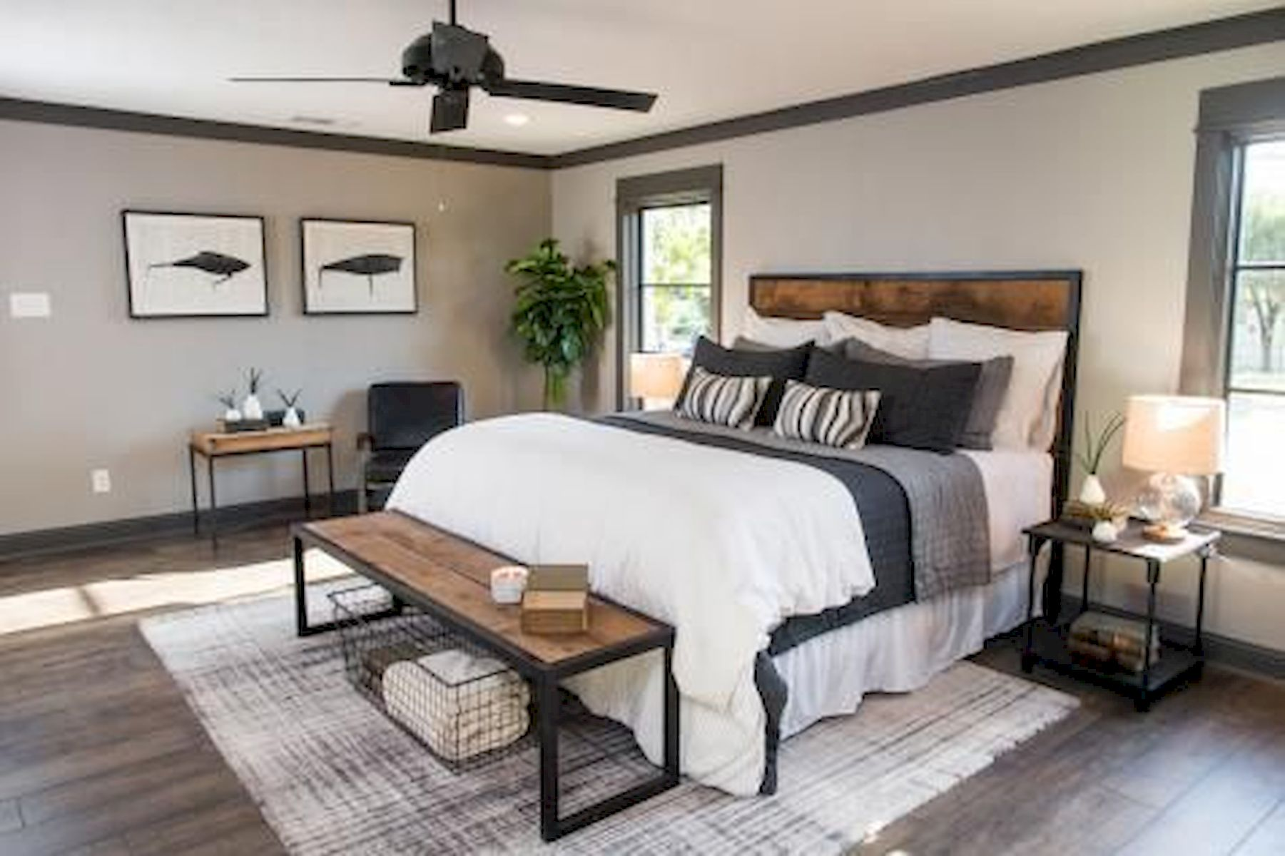 50 Modern Farmhouse Bedroom Decor Ideas Makes You Dream Beautiful In