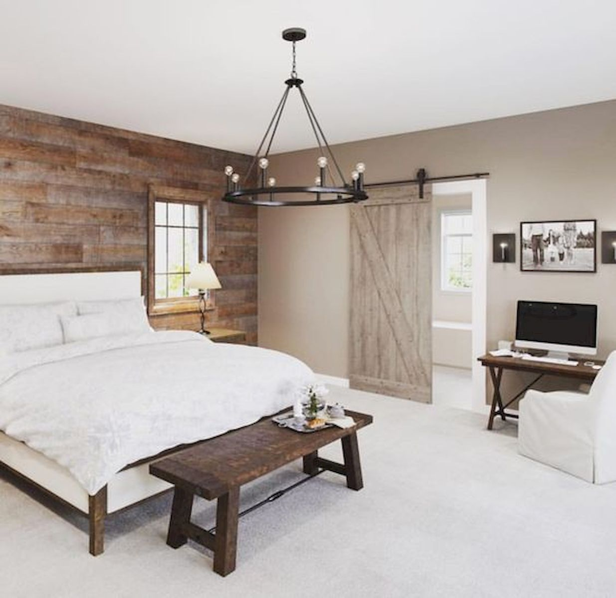 50 Modern Farmhouse Bedroom Decor Ideas Makes You Dream Beautiful In 2019 (45)