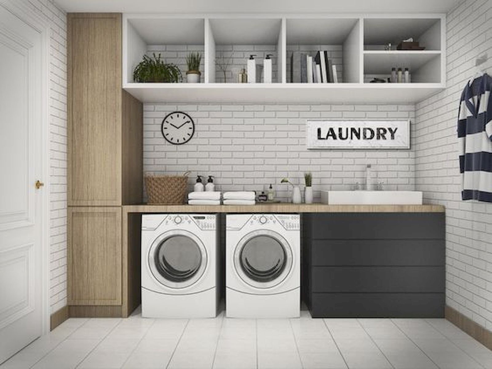 55 Gorgeous Laundry Room Design Ideas and Decorations (46)