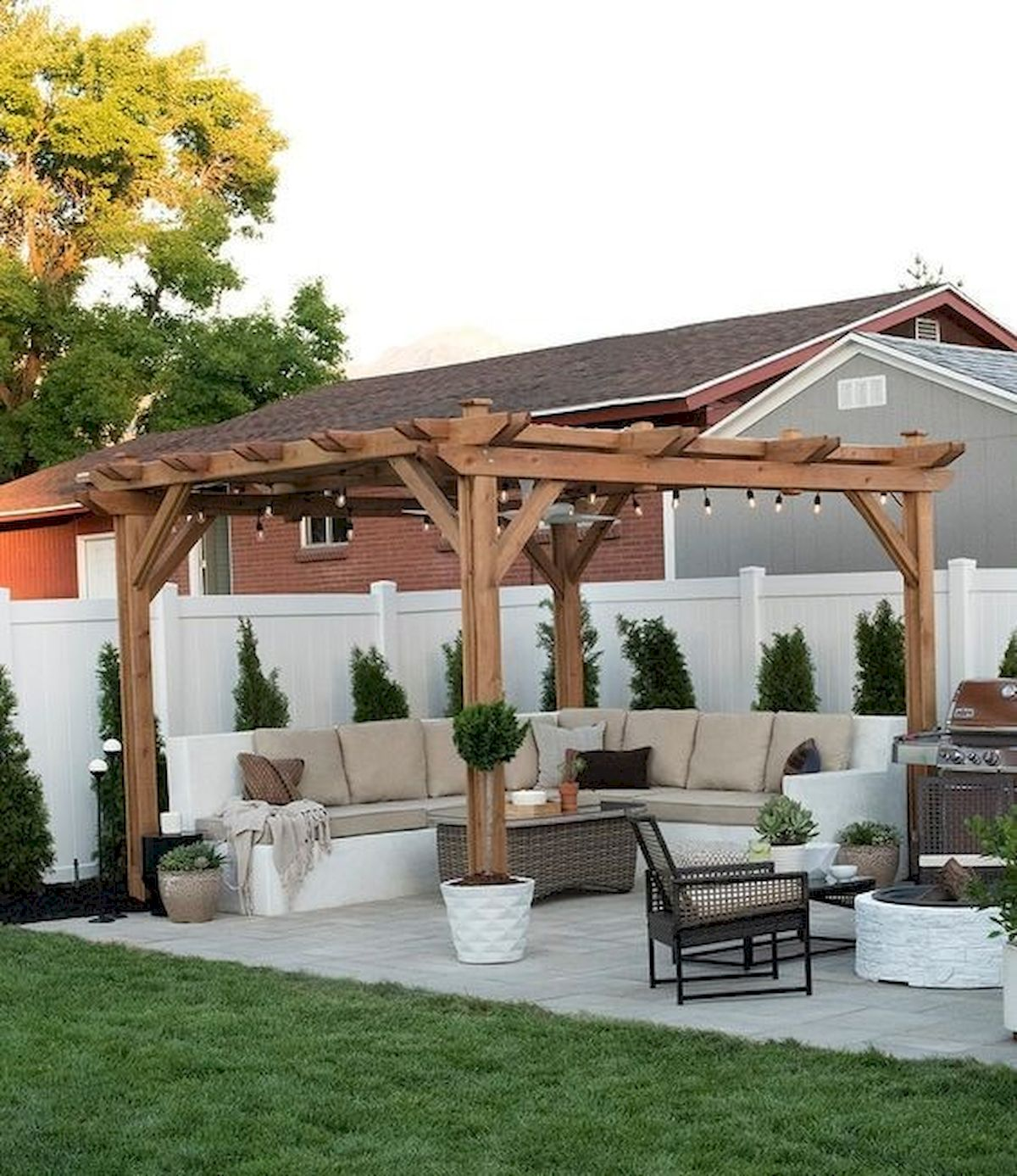 55 Wonderful Pergola Patio Design Ideas 46