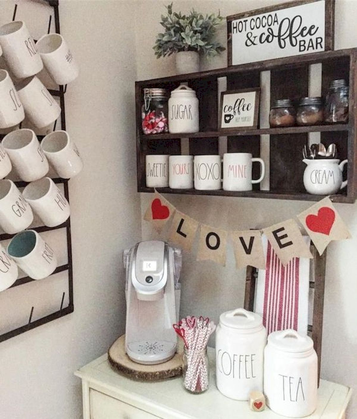 60 Suprising Mini Coffee Bar Ideas for Your Home (30)