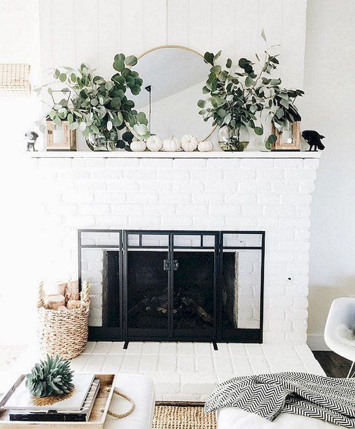 37 Beautiful Easter Fireplace Mantle Ideas (18)