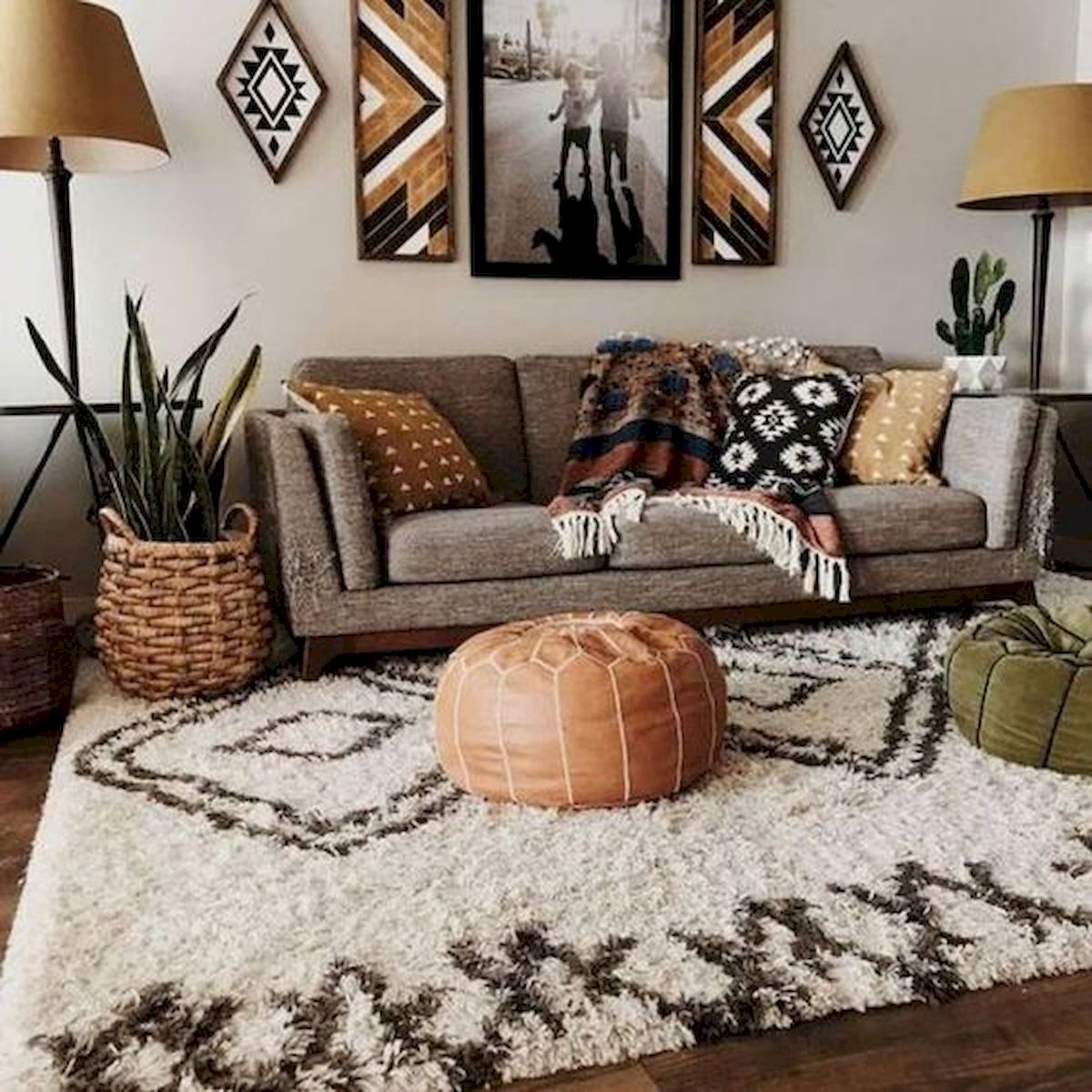 55 Bohemian Living Room Decor Ideas - Googodecor on Living Room Design Ideas  id=56224