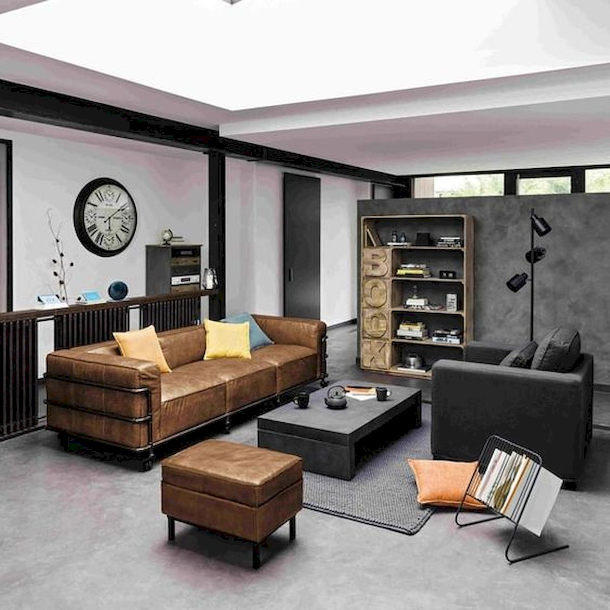 72 Industrial Living Room Decor Ideas